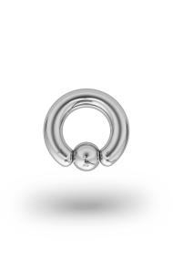 Olympia Classic 4,0/6 Ball Closure Ring, White Gold