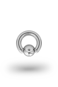 Olympia Classic 4,0/8 Ball Closure Ring, White Gold