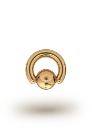 Olympia Classic 4,0/10 Ball Closure Ring, Yellow Gold