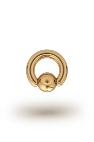 Olympia Classic 4,0/8 Ball Closure Ring, Yellow Gold
