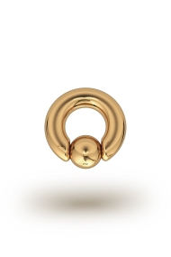 Olympia Classic 5,0/8 Ball Closure Ring, Yellow Gold