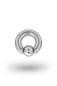 Olympia Classic 5,0/8 Ball Closure Ring, White Gold