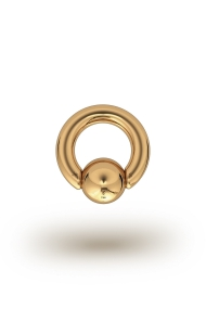 Olympia Classic 5,0/12 Ball Closure Ring, Yellow Gold