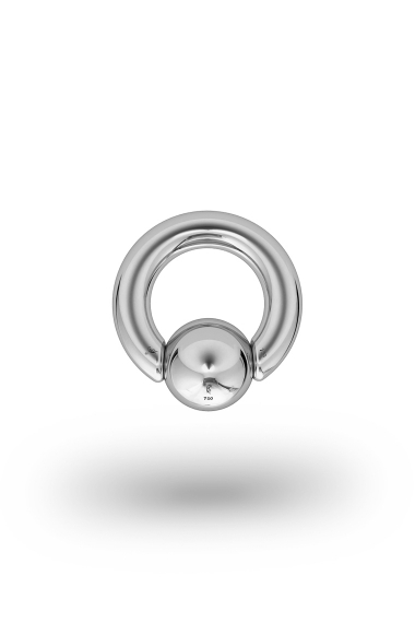 Olympia Classic 5,0/12 Ball Closure Ring, White Gold
