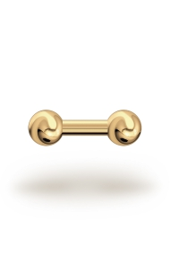 Elis Classic 3,5/8 Barbell, Yellow Gold