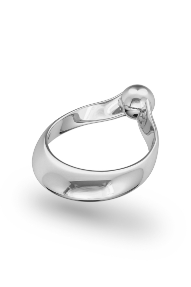 Adonis Ball Glans Ring, Silver