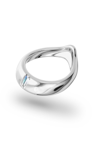 Adonis Baguette Glans Ring, Silver