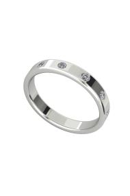 Morpheus Shine Penis Ring, Silver