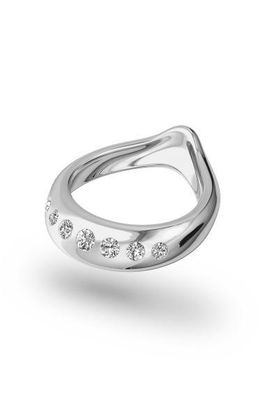 Adonis Shine Glans Ring, Silver