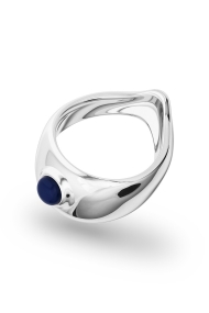 Adonis Lapis XL Glans Ring, Silver